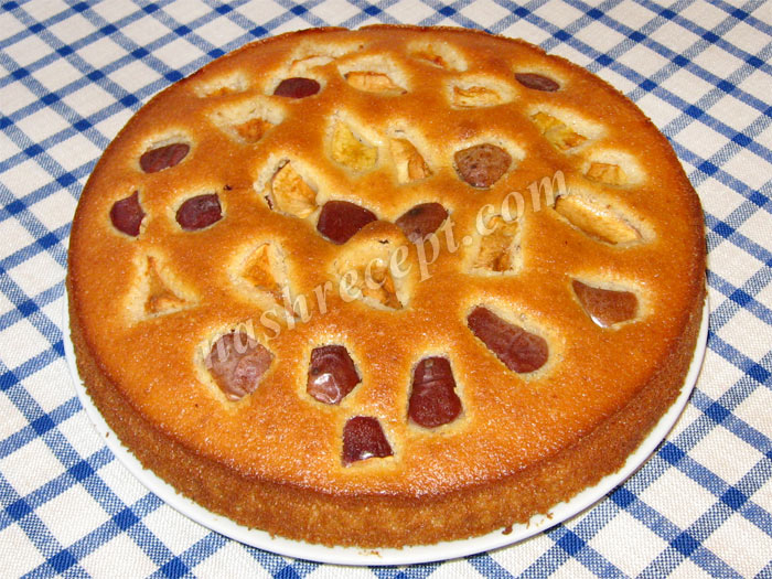 фруктовый пирог с яблоками - fruktovyi pirog s yablokami