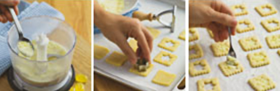 "приготовление печенья ""Окошки"" - prigotovlenie pechenya okoshki"