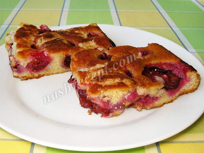 фруктовый пирог со сливами - fruktovyi pirog so slivami