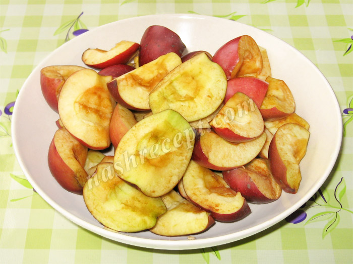 яблоки для запекания утки - yabloki dlya zapekaniya utki