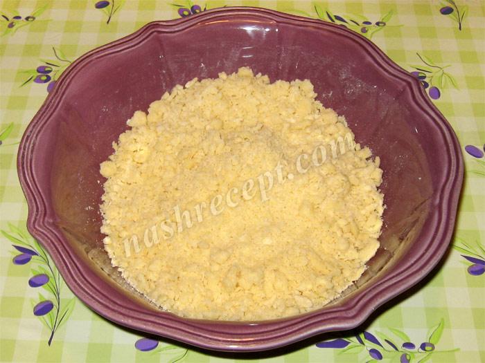 масляная крошка для яблочного пирога - maslyanaya kroshka dlya yablochnogo piroga