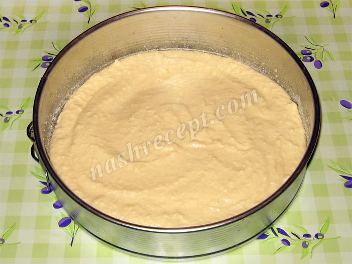 тесто для яблочного пирога со сладкой посыпкой - testo dlya yablochnogo piroga so sladkoy posypkoy