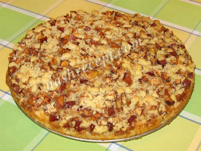 яблочный пирог со сладкой посыпкой - yablochnyi pirog so sladkoy posypkoy