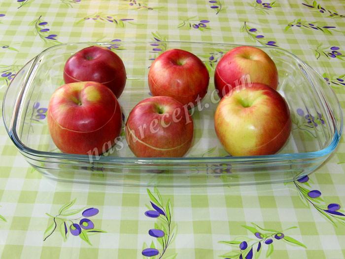 накрываем яблоки крышечками - nakryvaem yabloki kryshechkami