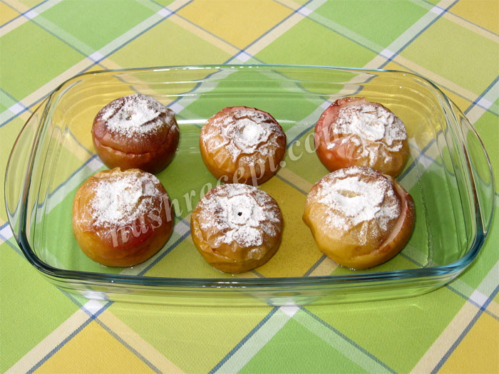 яблоки, запеченные с сахаром в духовке - yabloki, zapechennye s saharom v duhovke