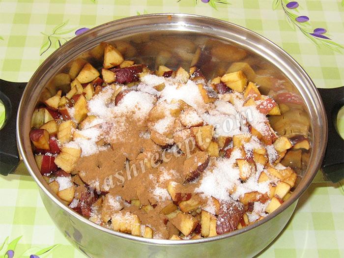 яблочная начинка для дрожжевого рулета - yablochnaya nachinka dlya drozhzhevogo ruleta