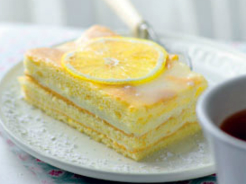 бисквитный лимонный торт - biskvitnyi limonnyi tort