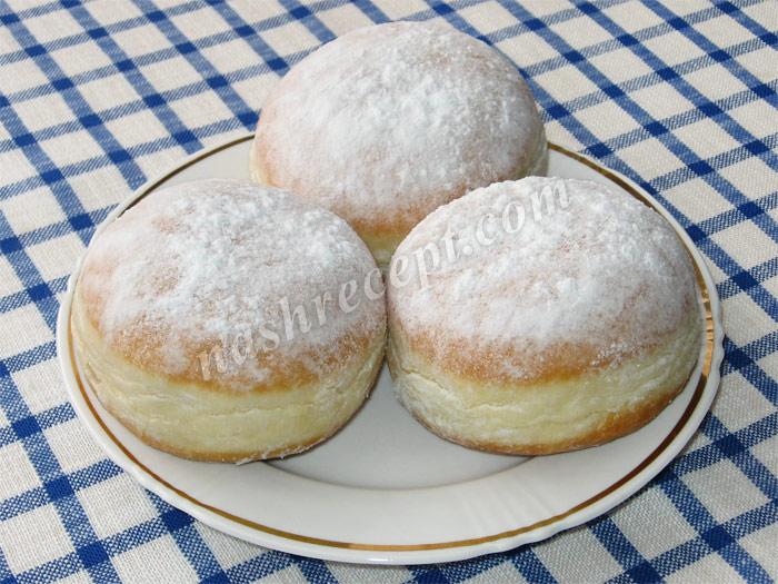 пончики с джемом - ponchiki s dzhemom