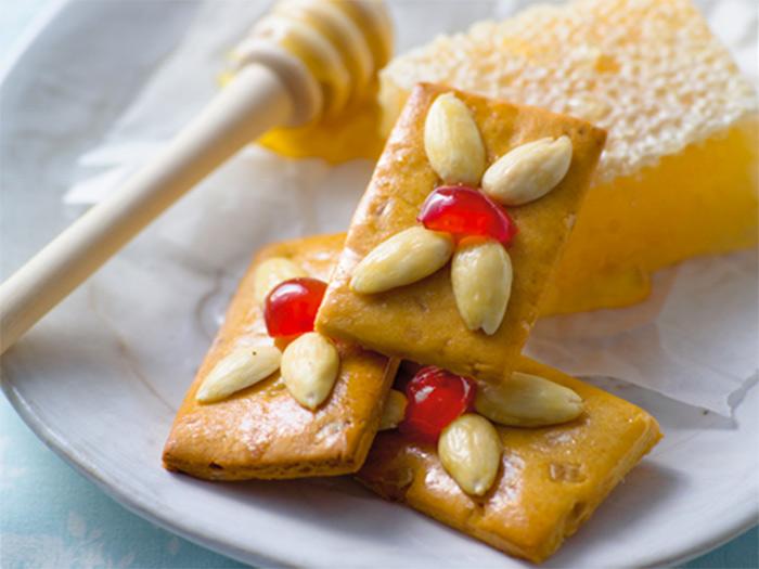 медовое печенье с анисом и миндалем - medovoe pechenie s anisom i mindalem