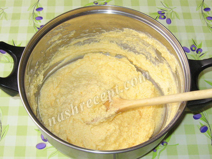 масляно-яичная смесь для торта Захер - maslyano-yaichnaya smes dlya torta Sacher