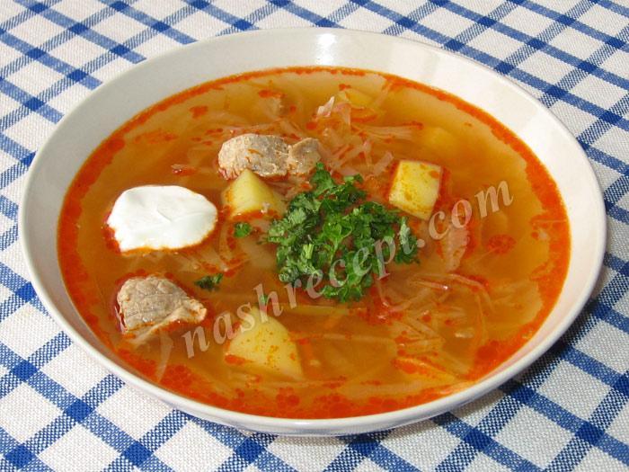 крестьянский суп с мясом - krestyanskiy sup s myasom