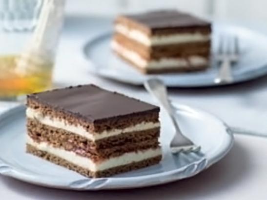 шоколадно-медовый торт с кремом из манки - shokoladno-medovyi tort s kremom iz manki