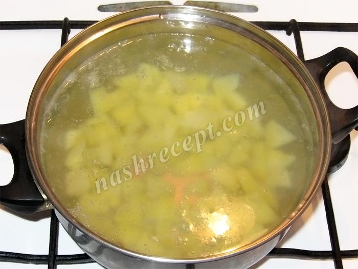 картофель для грибного супа с рисом - kartofel dlya gribnogo supa s risom