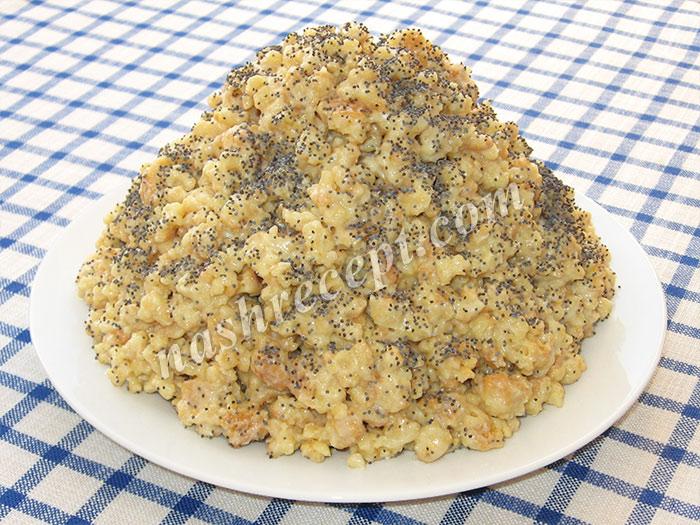 торт Муравейник со сливочным кремом - tort Muraveynik so slivochnym kremom