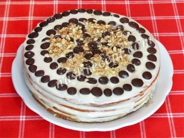 торт медовик со сметанным кремом - tort medovik so smetannym kremom