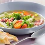 Овощной суп с ветчиной