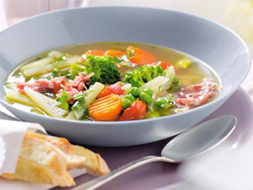 овощной суп с ветчиной - ovoshnoy sup s vetchinoy
