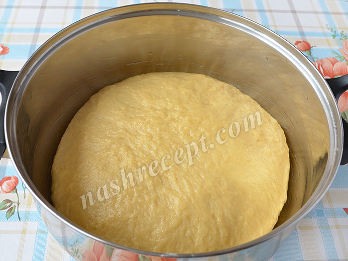 замешиваем тесто для пасхальных куличей - zameshivaem testo dlya paskhalnyh kulichey