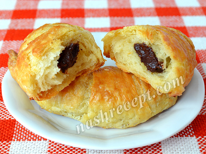 домашние круассаны с шоколадом - domashnie kruassany s shokoladom