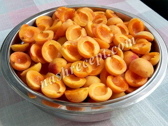 абрикосы без косточек для варенья - abrikosy bez kostochek dlya varenya