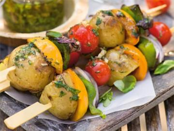 шашлык из овощей - shashlyk iz ovoschey