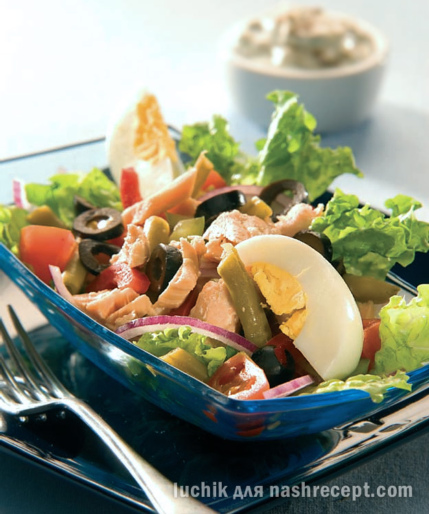 салат с семгой - salat s semgoy