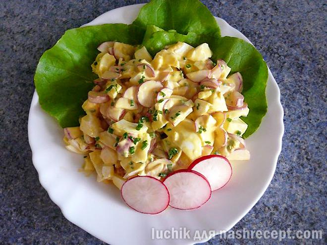 салат из редиски с яйцом - salat iz rediski s yaytsom
