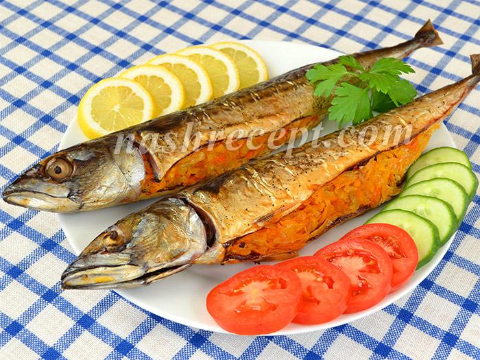 скумбрия, запеченная в фольге с луком и морковью - skumbriya, zapechennaya v folge s lukom i morkovyu