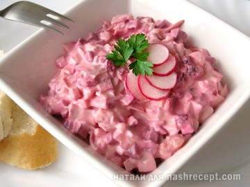 салат из свеклы с яйцом - salat iz svekly s yaytsom