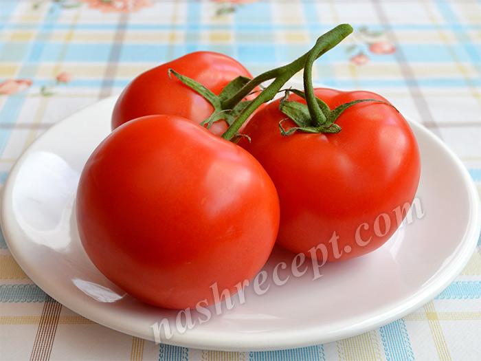 помидоры для салата Капрезе - pomidory dlya salata caprese