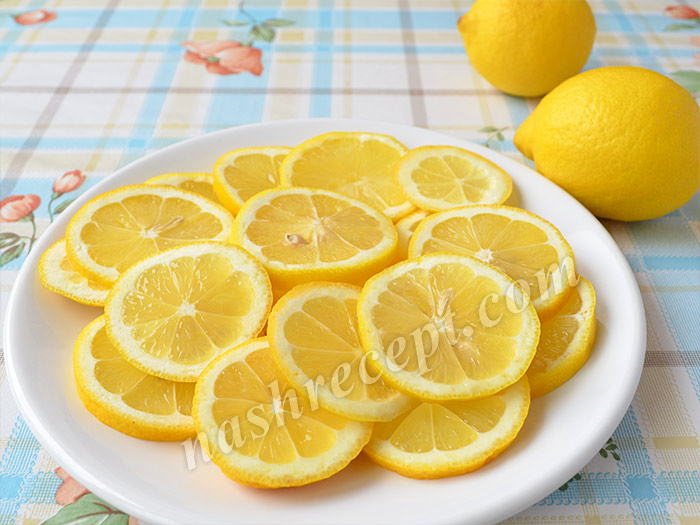 лимоны кружочками для варенья из одуванчиков - limony kruzhochkami dlya varenia iz oduvanchikov