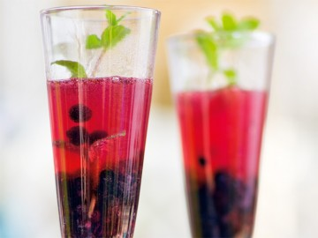ягодный коктейль с шампанским - yagodnyi kokteyl s shampanskim