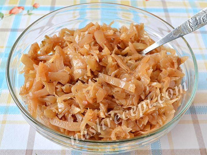 начинка для пирожков с капустой - nachinka dlya pirozhkov s kapustoy