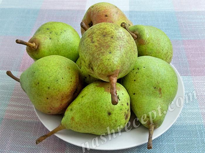 груши для варенья дольками - grushi dlya varenya dolkami