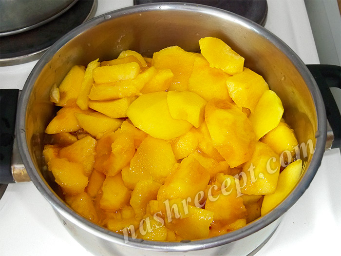 персики кусочками для варенья - persiki kusochkami dlya varenya
