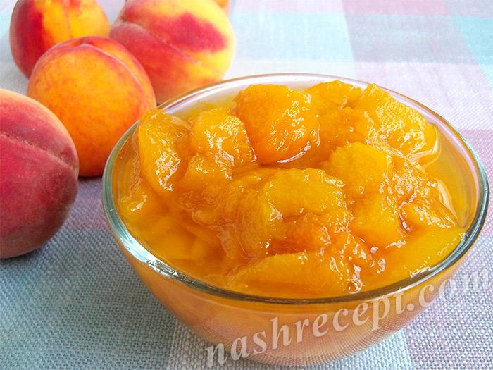 варенье из персиков на зиму - varenye iz persikov na zimu