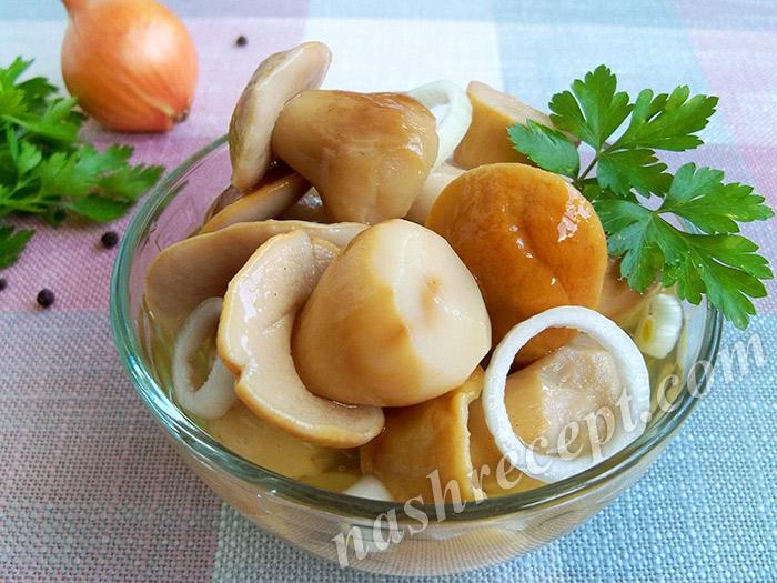маринованные белые грибы консервированные - marinovannye belye griby konservirovannze