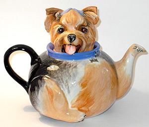 подарки к Новому году: чайник в виде собаки