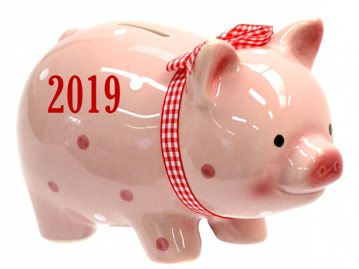 Новый год 2019 - год желтой земляной Свиньи