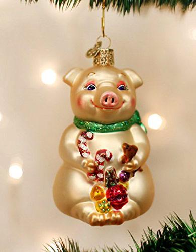 елочная игрушка - свинья