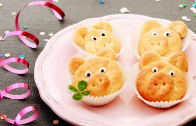 печенье к Новому году 2019 в виде свинок
