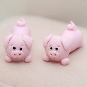 серьги в виде свиньи