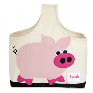 подарки к Новому году: сумка со свинкой