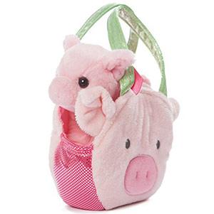 подарки к Новому году: детская сумочка в виде свиньи