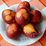 Пасхальные яйца с растительным узором
