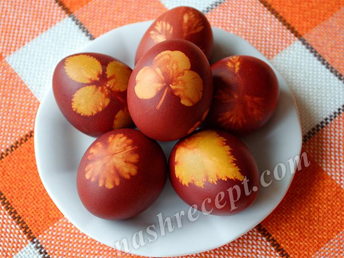 пасхальные яйца с растительным узором - paskhalnye yaytsa s rastitelnym uzorom