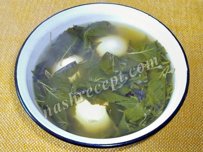 яйца в отваре березовых листьев - yaytsa v otvare berezovyh listyev