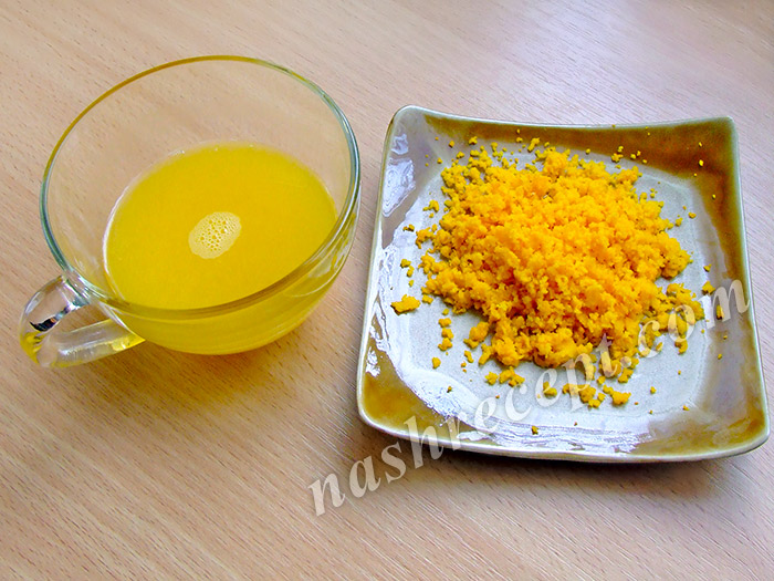 сок и цедра апельсина для маффинов - sok i tsedra apelsina dlya maffinov