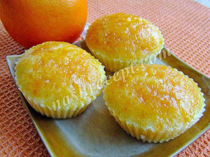 апельсиновые маффины с абрикосовым джемом - apelsinovye maffiny s abrikosovym dzhemom