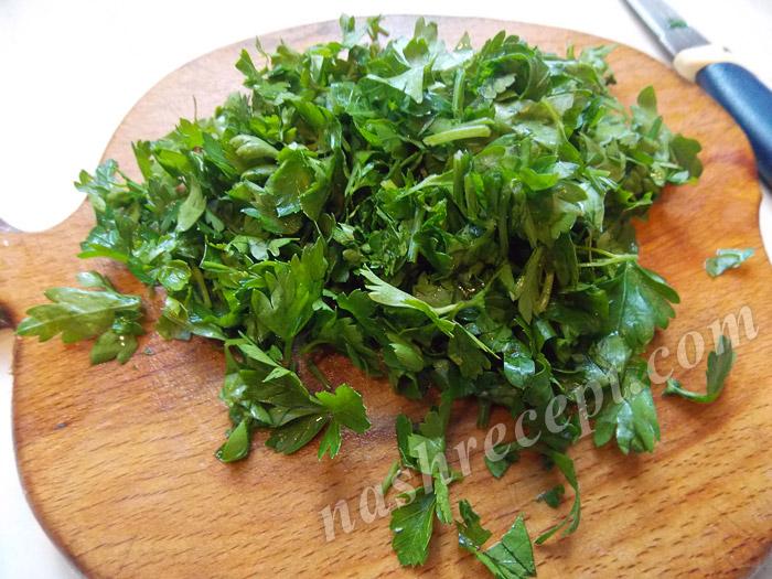 зелень для супа с плавленным сыром - zelen dlya supa s plavlennym syrom